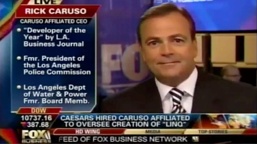 Rick Caruso discussing The Linq with Fox Business